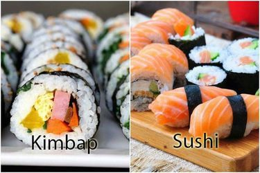 Phân biệt kimbap và sushi