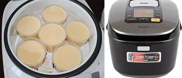 làm bánh flan bằng nồi cơm điện
