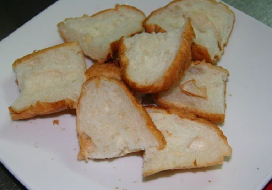 sơ chế bánh mì