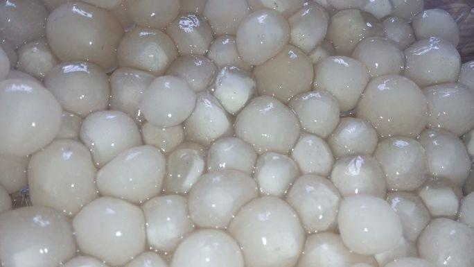 ngâm trân châu trong nước lạnh