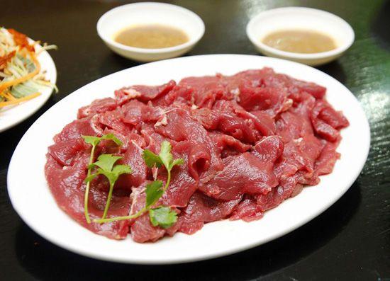 thịt bò thái mỏng