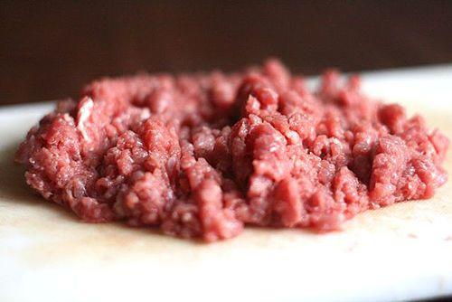 thịt bò băm nhỏ