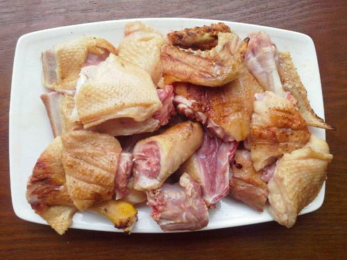 chặt thịt vịt