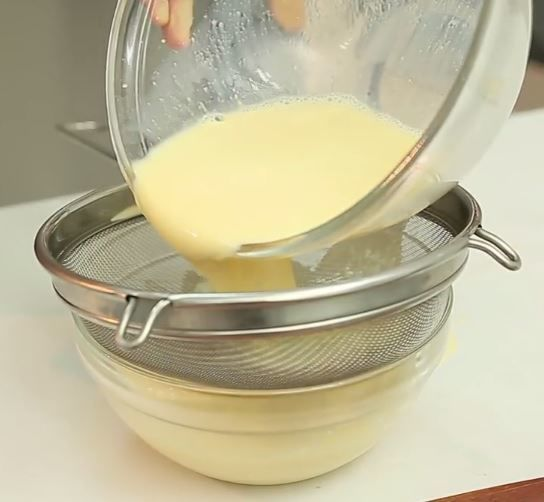 lọc hỗn hợp trứng sữa