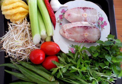 Nguyên liệu làm canh chua cá lóc