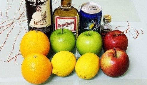 Nguyên liệu làm cocktail trái cây