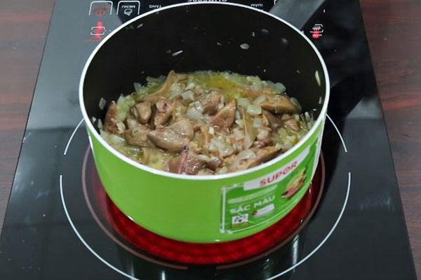 nấu pate gan gà