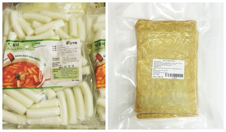 bánh gạo khô và chả cá Hàn Quốc