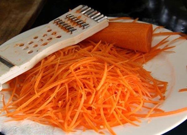 cà rốt bào sợi