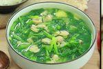 Cách làm canh ngao rau cải
